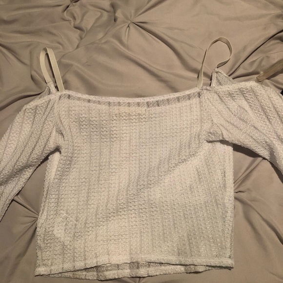Urban Outfitters Tops - White long sleeve sheer crop top